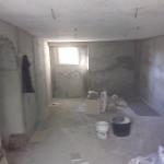 Lavori edili della Santoli Service: cantiere durante un intervento