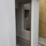 Lavori edili della Santoli Service: realizzazione ingresso durante l'intervento