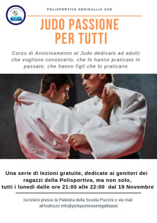 Corsi di judo gratuiti organizzati da Polisportiva Senigallia asd - locandina