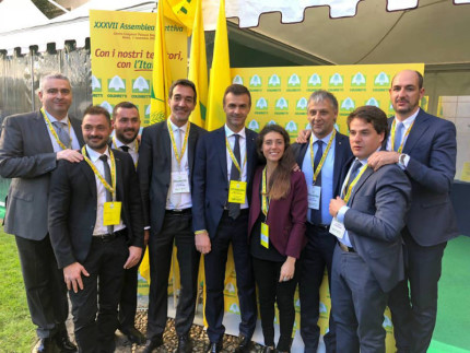 Presidenti e direttori provinciali di Coldiretti Marche con il nuovo presidente