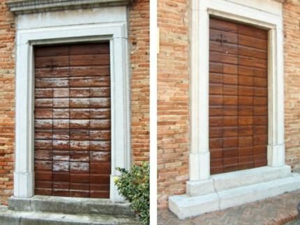 Le porte della Chiesa di San Rocco di Ostra