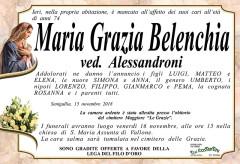 Necrologio Maria Grazia Belenchia