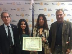 """""""In Studiis Laus"""": Angelica Fiscaletti del Corinaldesi di Senigallia premiata dal Rotary Club"""