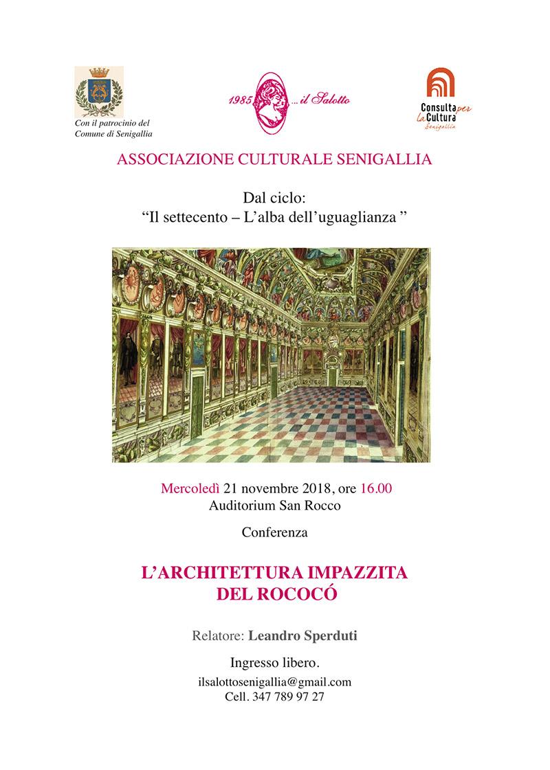 L'architettura impazzita del Rococò - incontro a San Rocco - locandina