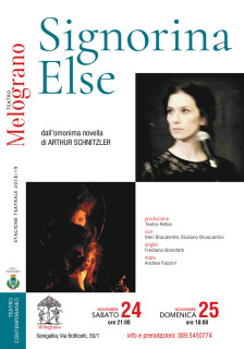 Signorina Else al Teatro Nuovo Melograno - locandina