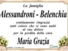 Ringraziamenti famiglia Alessandroni Belenchia