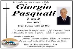 Necrologio Giorgio Pasquali