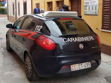 Un'auto dei Carabinieri