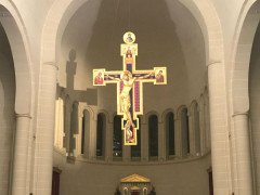 Crocefisso di Andrea Ippoliti in un monastero di Malta