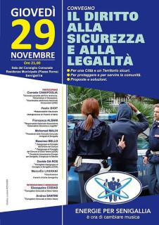 Convegno a Senigallia su diritto a sicurezza e legalità - locandina