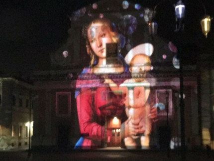 Video mapping in Piazza Garibaldi