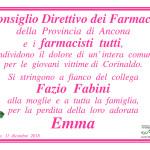 Necrologio Emma Fabini