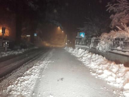 Neve nella provincia di Pesaro e Urbino tra il 16 e il 17 dicembre 2018