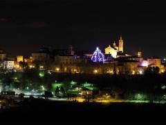 L'albero di Natale che spicca nel centro di Corinaldo