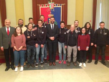 Tennistavolo: presentati al Sindaco i volontari SC-EVS