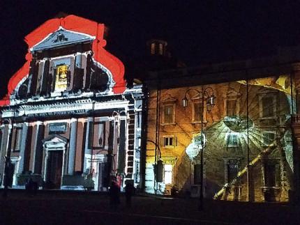 Videomapping in piazza Garibaldi