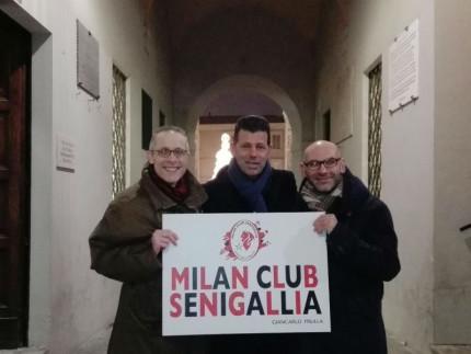 Mangialardi nel Milan Club Senigallia