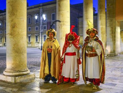 il tradizionale arrivo dei Re magi