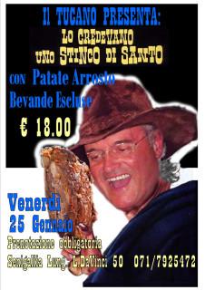 """""""Lo credevano un stinco di santo"""" - cena a base di stinco al ristorante Il Tucano di Senigallia - locandina"""