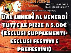Dal lunedì al venerdì, pizze a 5 euro alla pizzeria Il Tucano di Senigallia
