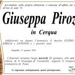 Giuseppa Pirozzi, necrologio