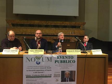 Incontro su economia sovranista: Sartini, Dragoni, Rinaldi, Piersimoni