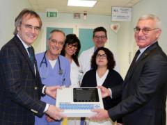 """L'Associazione """"Cuore di Velluto Onlus"""" dona un elettrocardiografo al reparto di Cardiologia di Senigallia"""