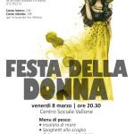 Arci Vallone: venerdì 8 marzo una cena per festeggiare tutte le donne