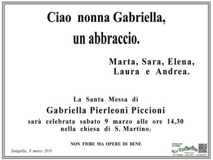 Gabriella Pierleoni Piccioni, necrologio e ricordo