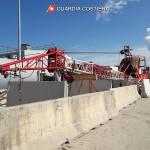 Depositata al porto di Ancona la gru crollata dalla Piattaforma Eni Barbara F