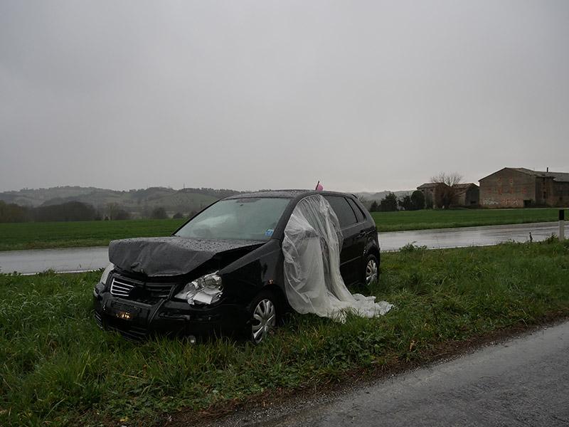 Incidente stradale sulla Corinaldese tra Borgo Catena e Cannella di Senigallia