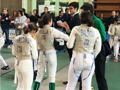 il team composto da Chiara Baldoni, Margherita Frulla e Chiara Mancino, seguite dal tecnico Lorenzo Cesaro
