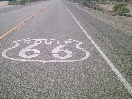 Un tratto della Route 66