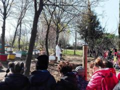 Alunni della scuola Rodari in visita a Bosco Mio