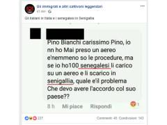 """Screenshot dalla pagina FB """"Gli immigrati e altri cattivoni leggendari"""""""