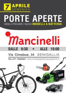 Porte aperte domenica 7 aprile da Mancinelli. Vieni a provare i nuovi modelli a batteria