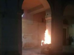 Incendio cartoni ex Filanda