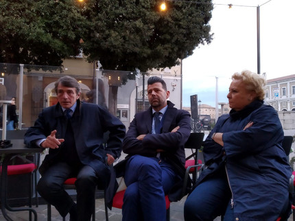 David Sassoli con Maurizio Mangialardi e Silvana Amati
