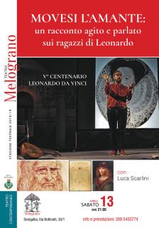 Movesi l'amante: un racconto agito e parlato sui ragazzi di Leonardo al Nuovo Melograno di Senigallia - locandina