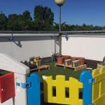 Il terrazzo del Centro Estivo del Magicabula a Senigallia