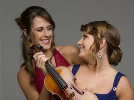 la violinista Francesca Dego e la pianista Francesca Leonardi