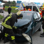 Incidente tra tre vetture a Borgo Catena