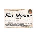 E' mancato all'affetto dei suoi cari Elio Manoni