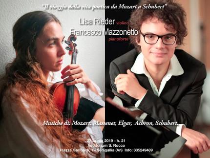 Concerto Lisa Rieder (violino) e Francesco Mazzonetto (pianoforte) all'auditorium San Rocco