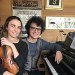 Lisa Rieder (violino) e Francesco Mazzonetto (pianoforte)