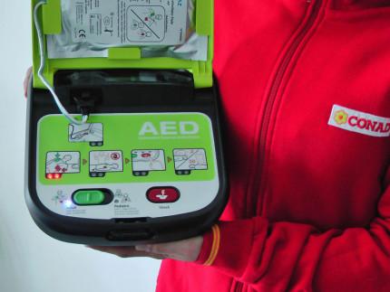 Defibrillatore per i supermercati Conad