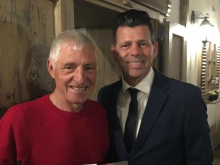 l sindaco Maurizio Mangialardi e il grande campione di ciclismo Francesco Moser.