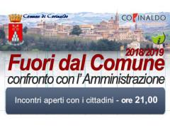 """""""Fuori dal Comune 2018/19"""" confronto tra Amministrazione e cittadinanza"""