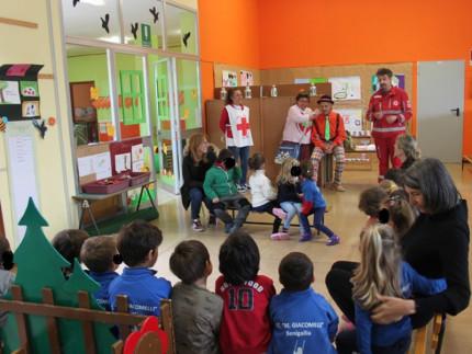 CRI Senigallia: volontari alla scuola dell'infanzia di Scapezzano