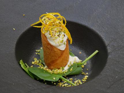 Cannolo baccalà mantecato Ciocomarche - ricetta ristorante La DegOsteria